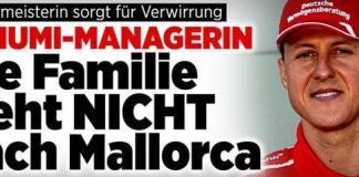 """La familia Schumacher no tiene previsto mudarse a Mallorca"", ha indicado Kehm al popular diario alemán ""Bild"""