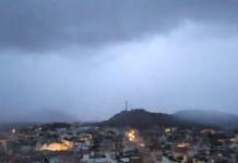 La tormenta en la madrugada de este martes ha dejado abundantes rayos (Foto: Twitter)