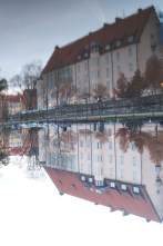 There was a beautiful river running through the center of Uppsala. It's surface was as smooth as glass and begged to be photographed.