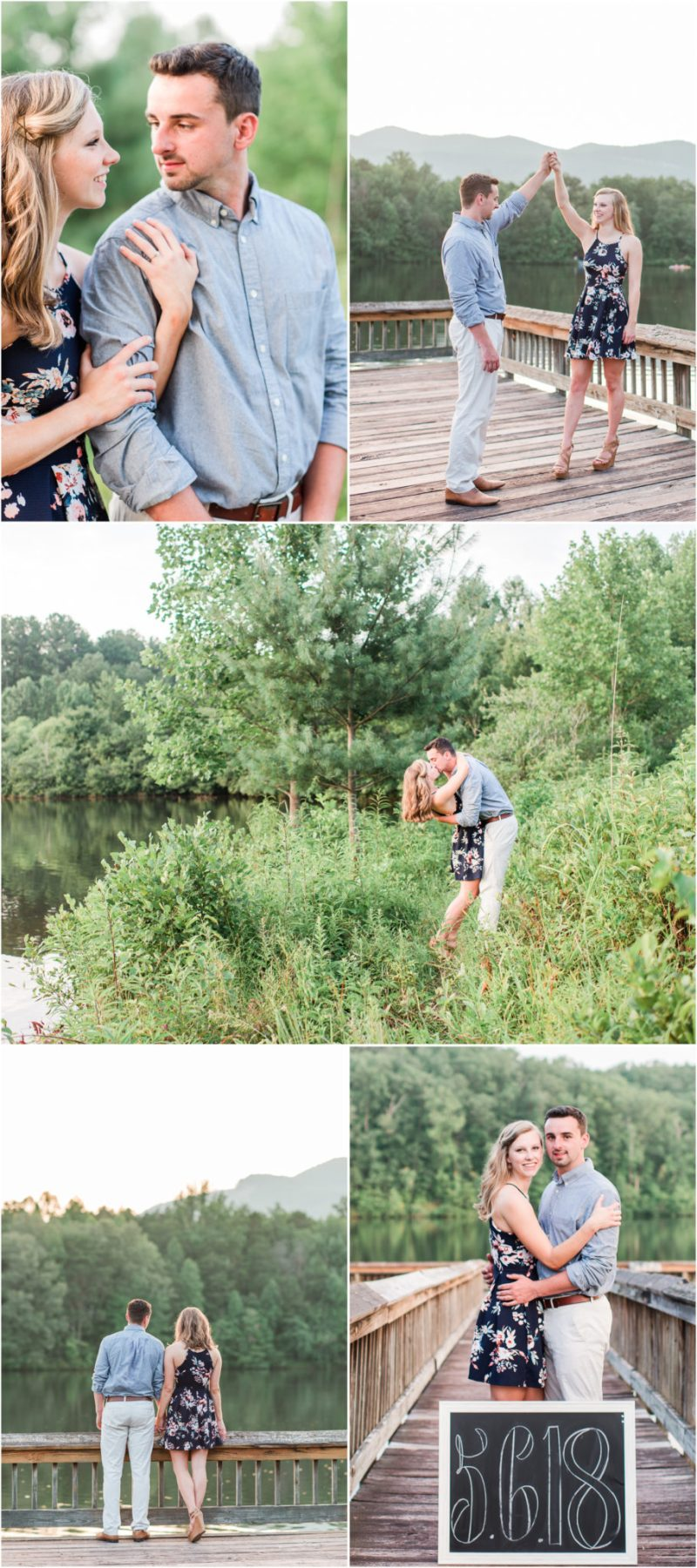 Summer Engagement Session by the lake