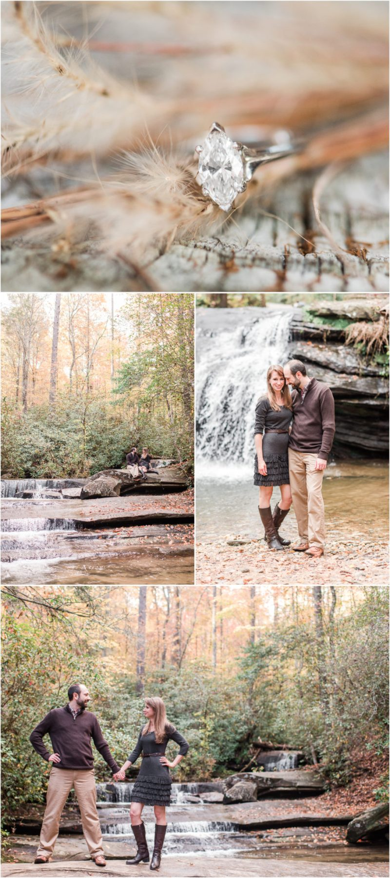 Fall Table Rock State Park Engagement Session in Pickens, SC