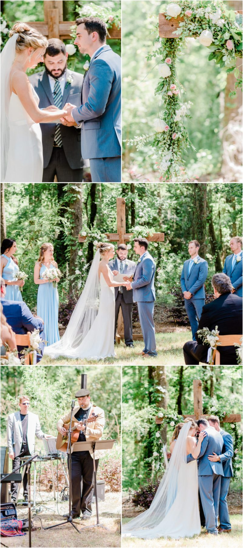 Millstone at Adams Pond Wedding in Columbia, SC ceremony