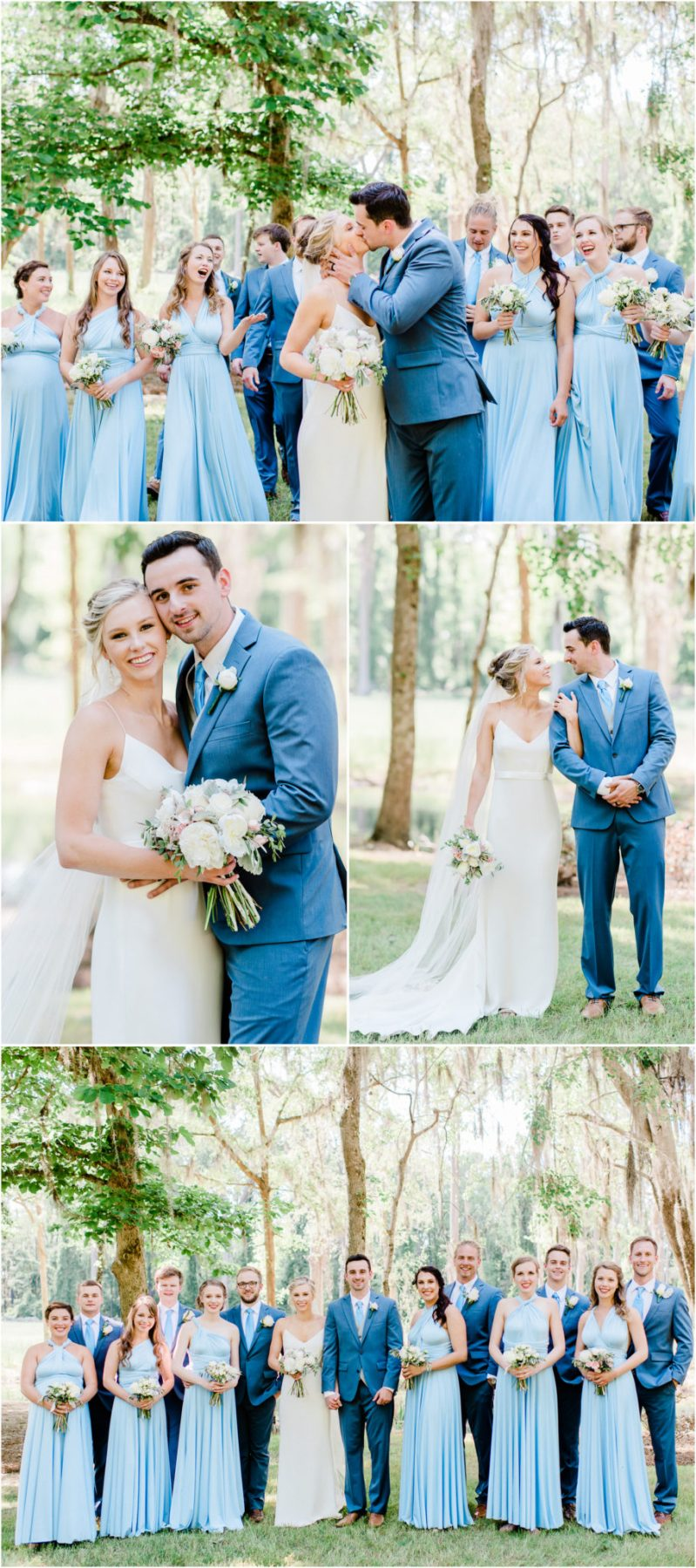 Millstone at Adams Pond Wedding in Columbia, SC Bridal Party Photos