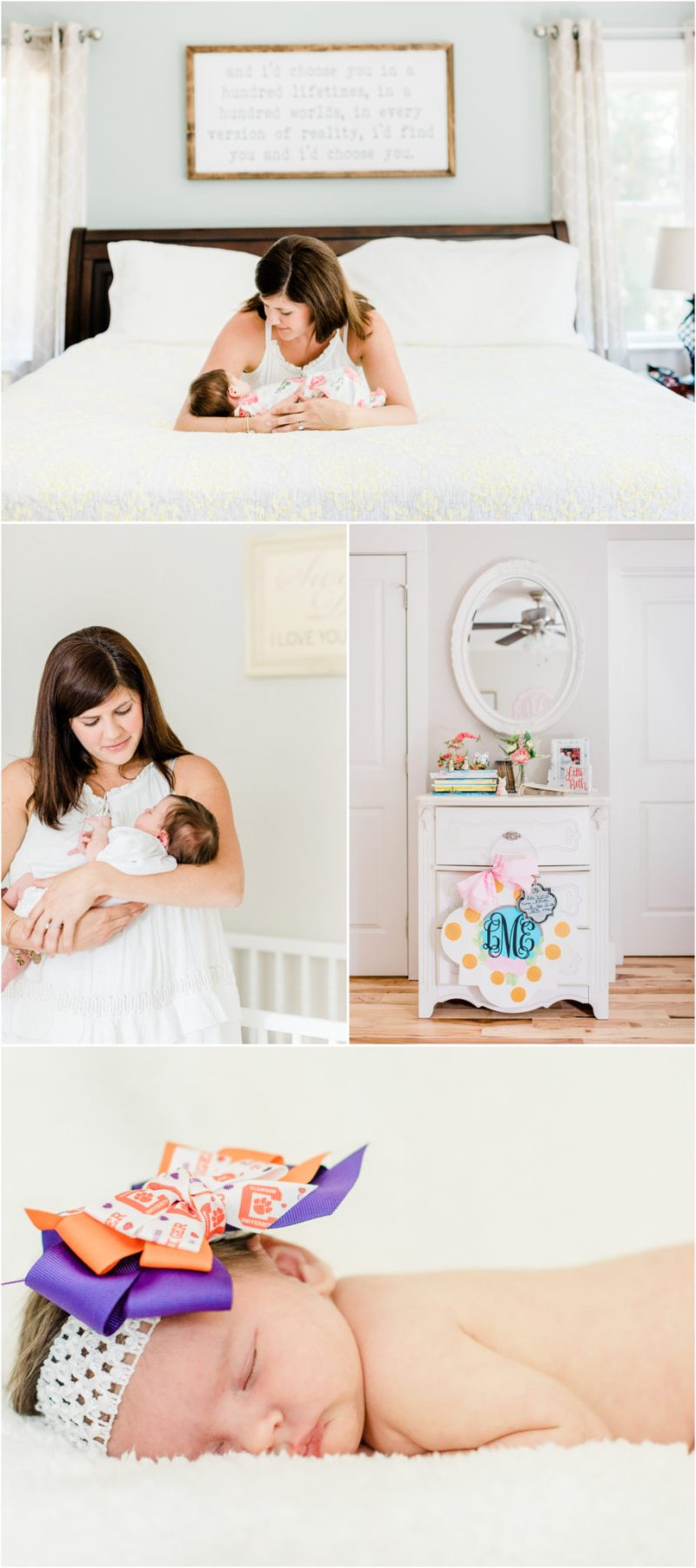 Lifestyle Clemson newborn session | In home Clemson newborn session | Clemson Newborn Photographer