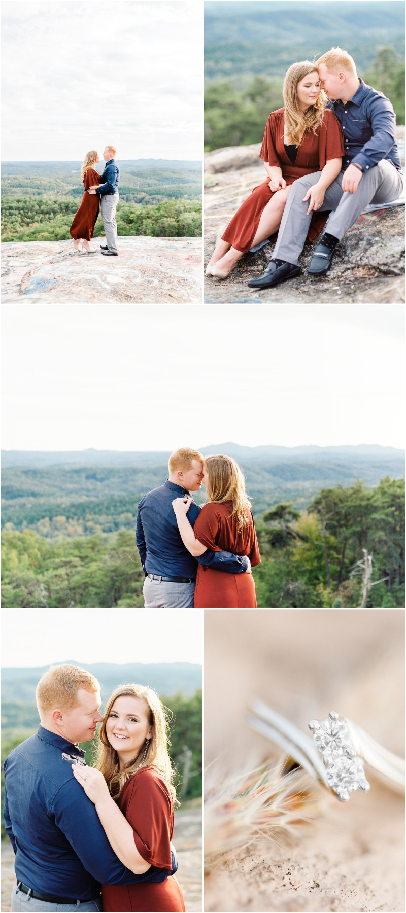 Bald Rock Engagement Session in Cleveland, SC