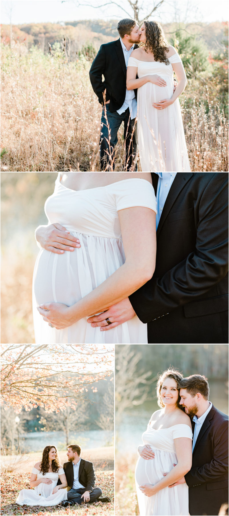 Fall mountain Table Rock Maternity Session in Cleveland, SC