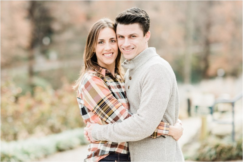 Winter downtown Greenville engagement