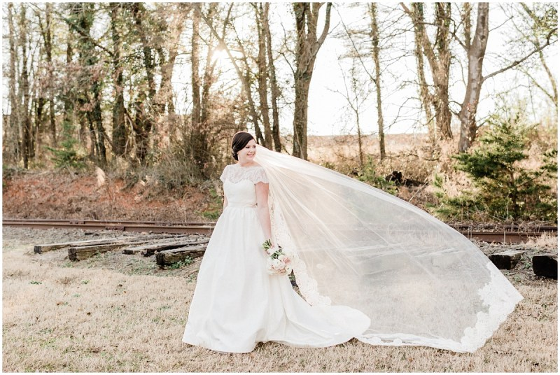 Bridal session veil shot Greenville SC Wedding photographer