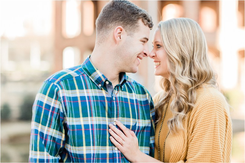 Downtown Greenville winter engagement