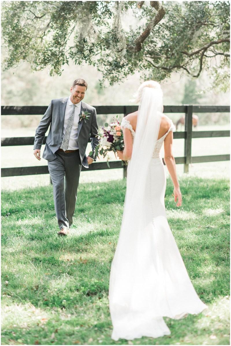 Boone Hall Plantation wedding first look