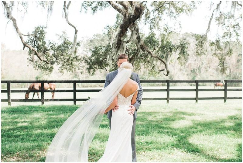 Boone Hall Plantation wedding bride and groom photos