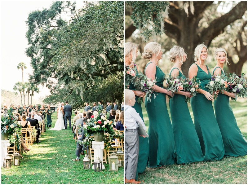 Boone Hall Plantation wedding outdoor ceremony