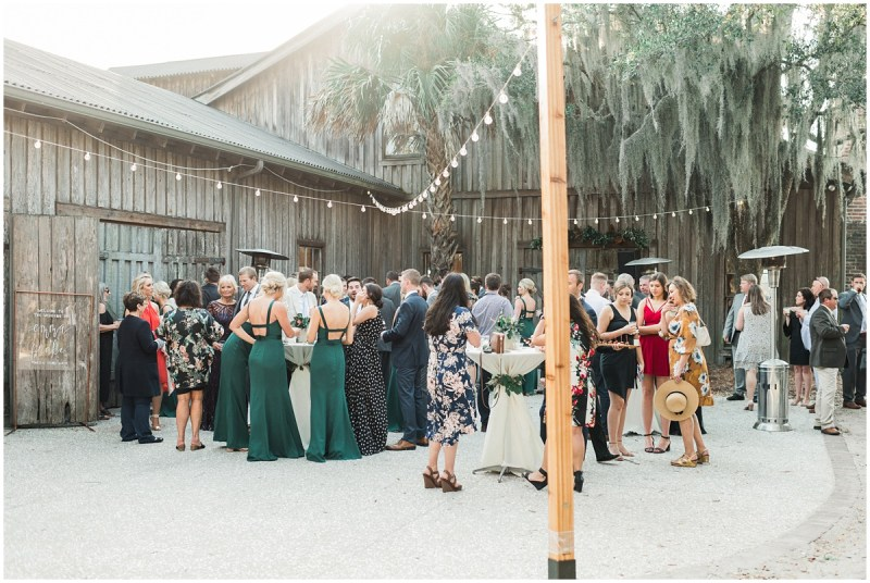 Boone Hall Plantation Wedding cocktail hour photos