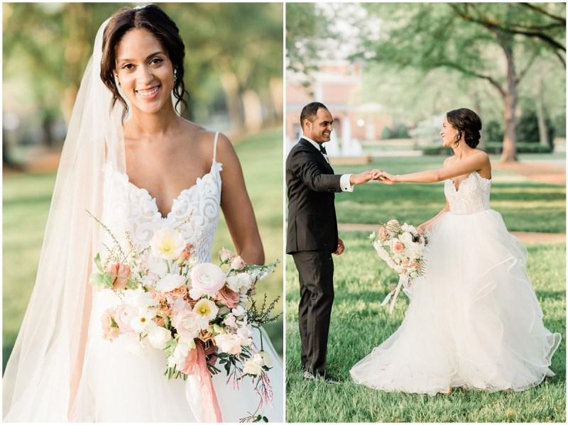 Romantic Blush L Wedding Bride and Groom
