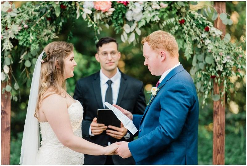 Bride and Groom wedding vows