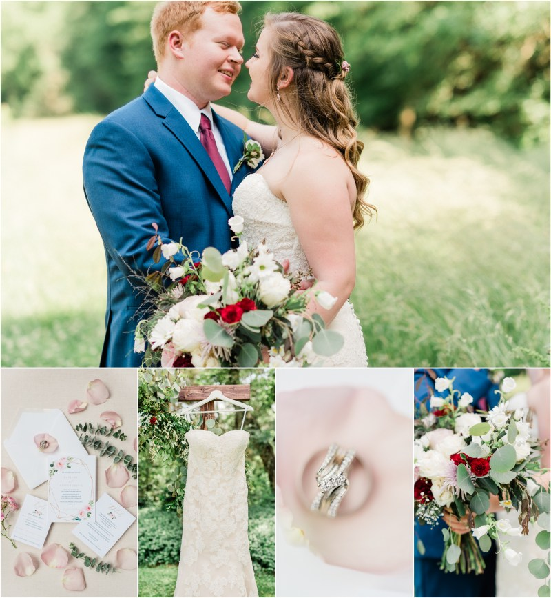 Sleepy Hollow Clemson Wedding with dusty rose and navy blue