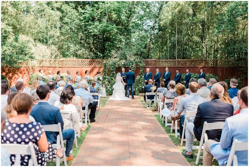 Duncan Estate Outdoor Wedding Ceremony in Spartanburg, SC.
