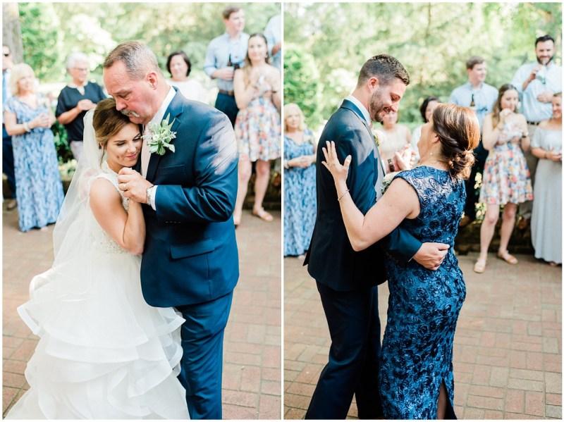 Outdoor wedding parent dances