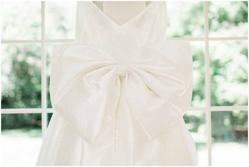 Wedding dress with big bow