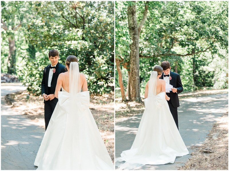 Greenville SC Wedding First Look