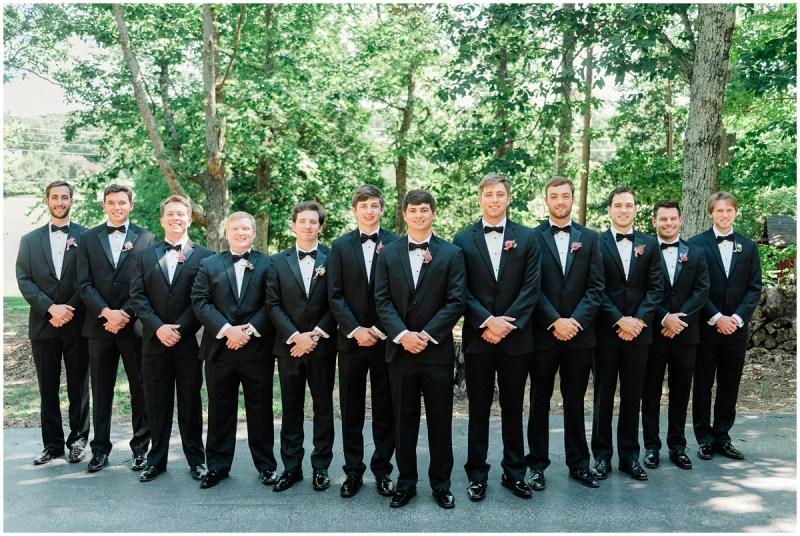 Groomsmen black tie photos