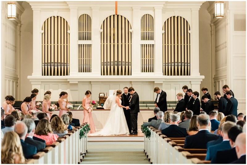 John Knox Presbyterian Church Wedding Greenville