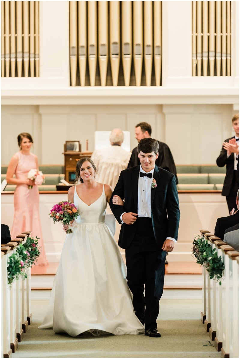 John Knox Presbyterian Church Wedding Greenville