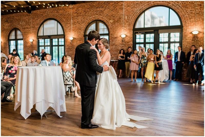 Downtown Greenville L Wedding first dance