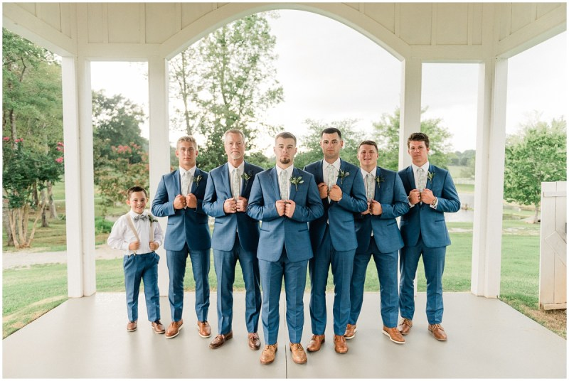 Groom and Groomsmen Photos at South Wind Ranch