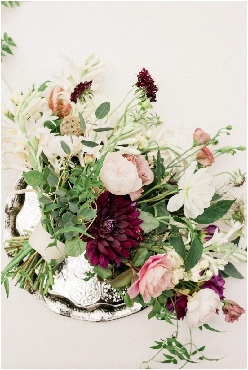 Burgundy inspired bridal bouquet