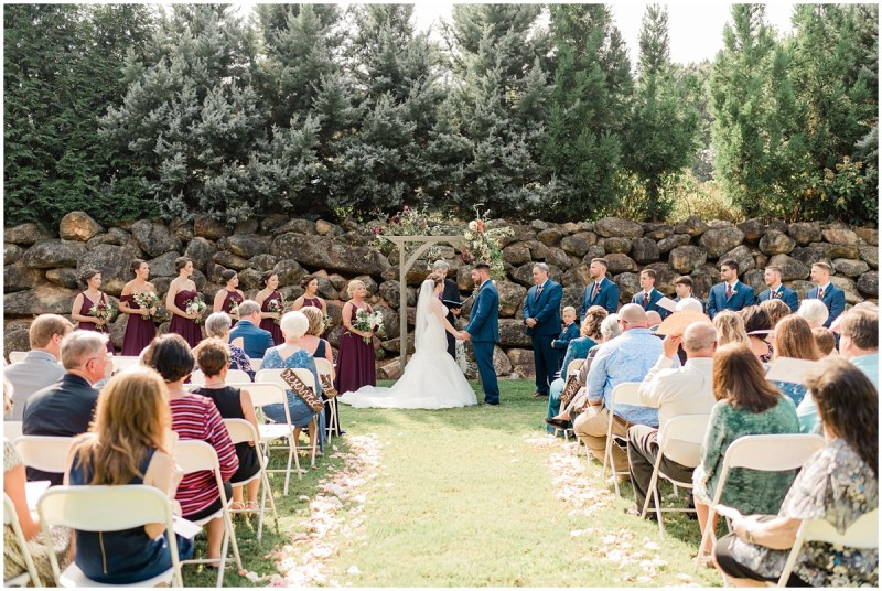 Larkins Sawmill Outdoor Wedding Ceremony