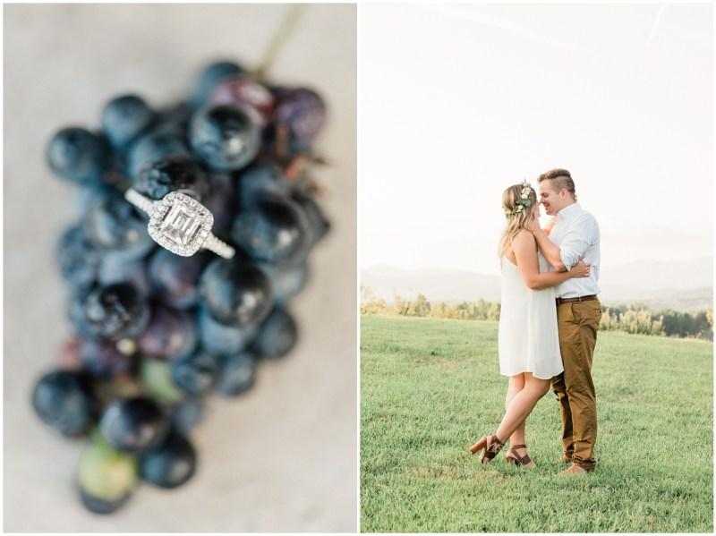 Winery engagement photos