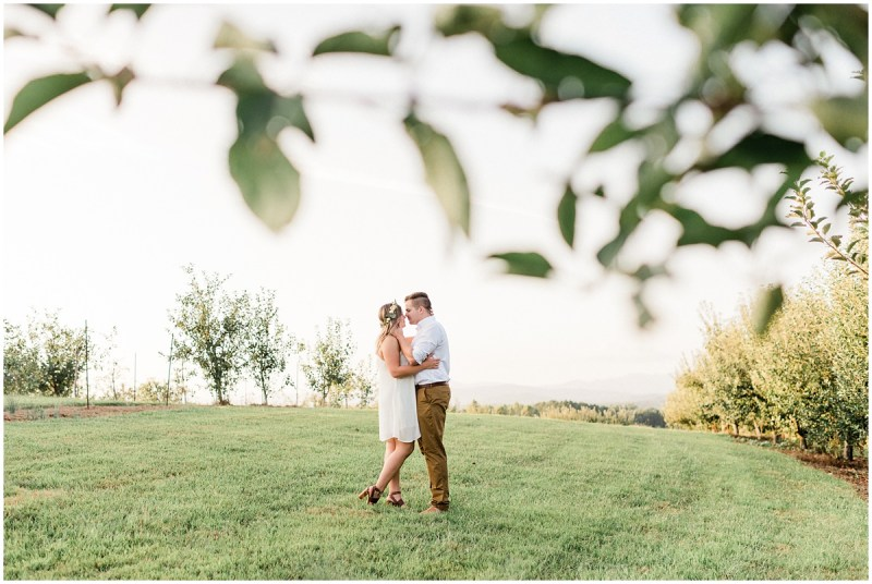 Orchard engagement photos