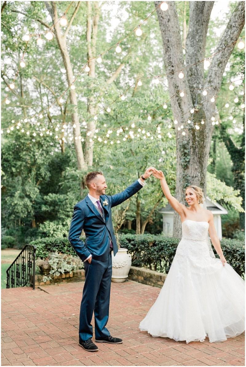 Bride and groom dancing photos