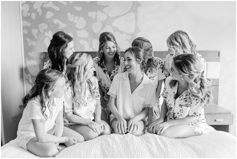 Bride and bridesmaid robe photos