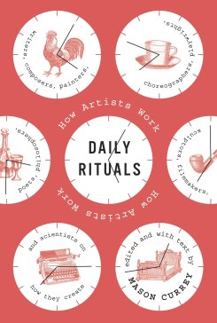 red book cover for Daily Rituals by Mason Currey