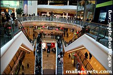 Inside Bullring Birmingham shopping centre