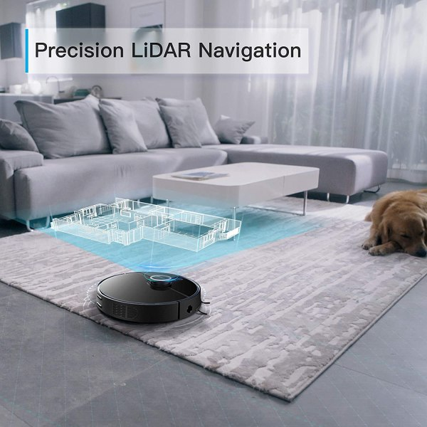 360 S7 Pro Robot Vacuum and Mop, LiDAR Mapping, 2200 Pa,Multi-Floor Mapping ,Selective Room Cleaning, No-Go Lines, No-Mop Zones, Low Pile Carpet, Works with Alexa