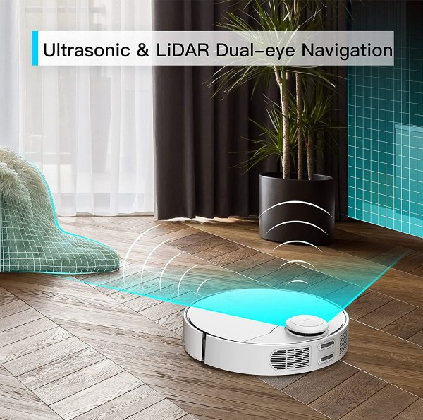 360 S9 Robot Vacuum and Mop, Ultrasonic & LiDAR Dual-Eye, Laser Mapping, 2200 Pa, Low Noise Design, 180 mins Work Time, Intelligent Water Tank, No-Go Zones, Compatible with Alexa