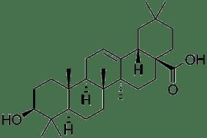 Estructura molecular del ácido oleanólico. Licencia CCO. Public domain.