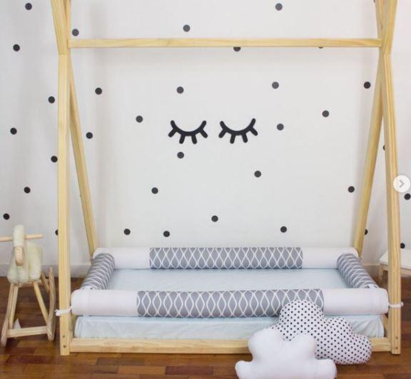 Cama infantil, cama montessori, cama baja, decoración infantil