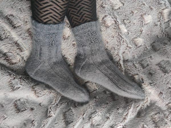Salvia socks, chaussettes au tricot