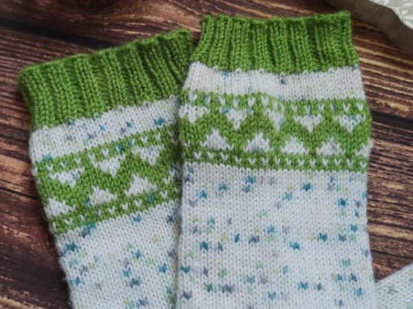 Perce neige socks - Chaussettes en jacquard - Maloraé Designs