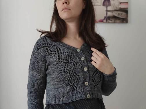 Motacilla, gilet au tricot pour femme
