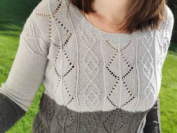 Santoline, pull pour femme colorblock au tricot
