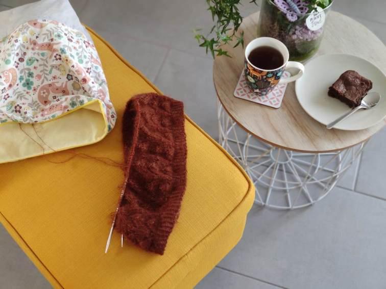 Akebia sweater - pull en dentelle et mohair - Maloraé Designs