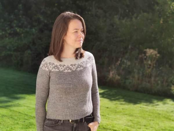 Ixia (sweater) - pull en yoke en jacquard