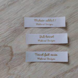 Étiquettes tissées - Maloraé Designs