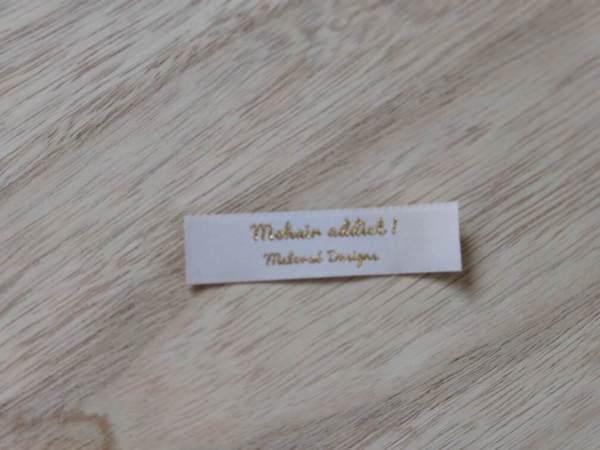 Étiquettes tissées -Mohair Addict- Maloraé Designs