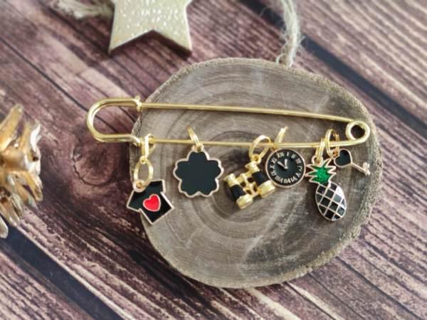 Lot anneaux marqueurs - Black and Gold - Maloraé Designs
